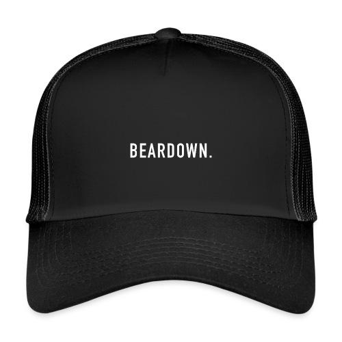 BEARDOWN Brand, classic, white - Trucker Cap
