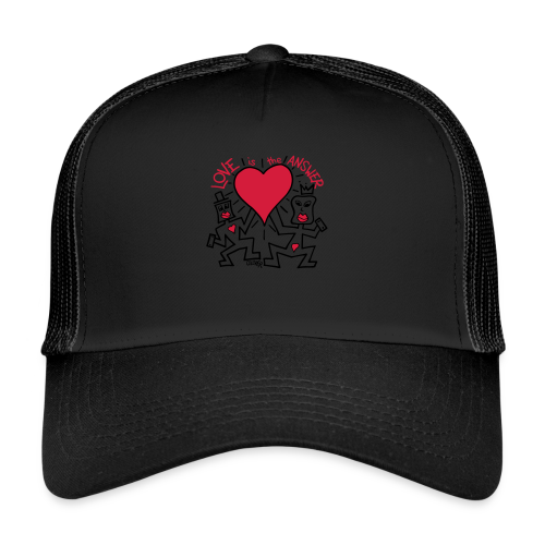 Love is the Answer by Oliver Schibli - Trucker Cap
