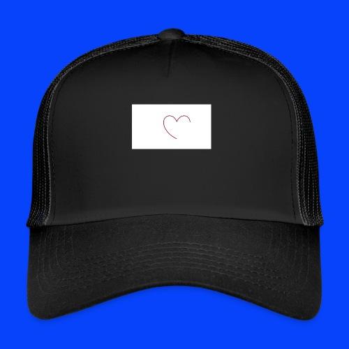 t-shirt bianca con cuore - Trucker Cap