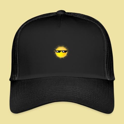 coole Sonne mit Sonnenbrille - Trucker Cap