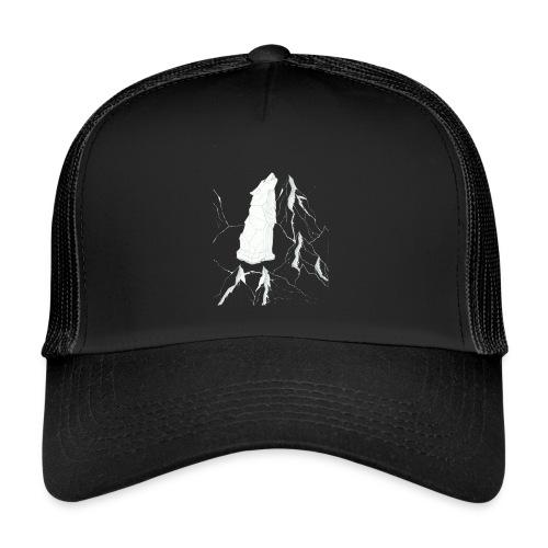 howling geometric wolf - Trucker Cap