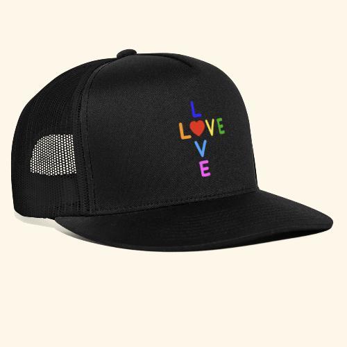 Rainbow Love. Regenbogen Liebe - Trucker Cap