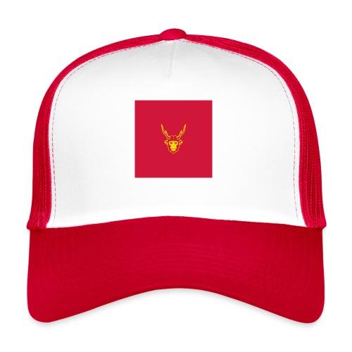 scimmiacervo sfondo rosso - Trucker Cap