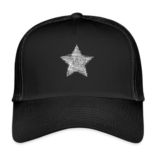 Estrella blanca - Gorra de camionero