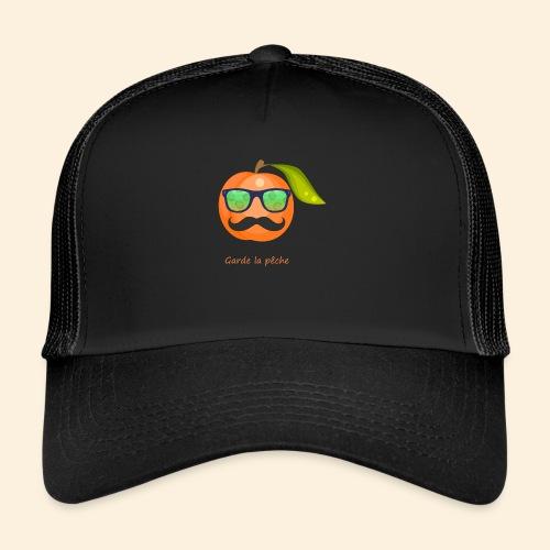 Lunette, moustache garde la pêche - Trucker Cap