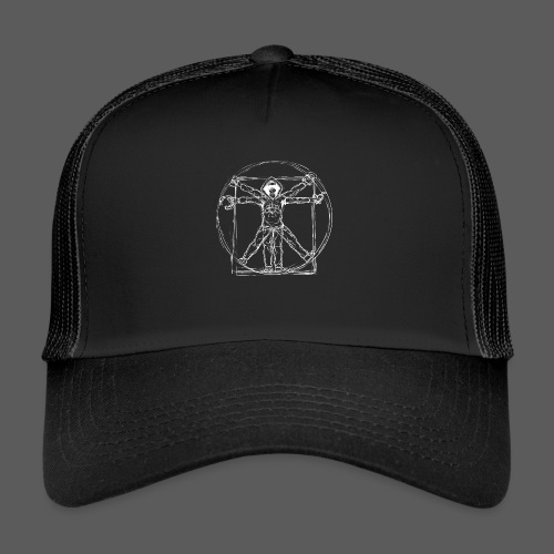 Vitruvian Gamer White Print - Trucker Cap