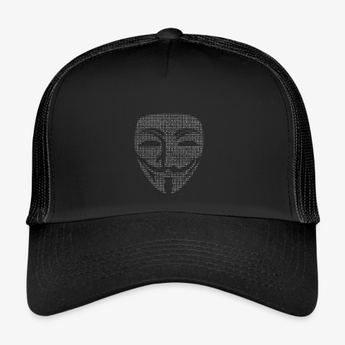 Guy Fawkes Mask Binary - Trucker Cap