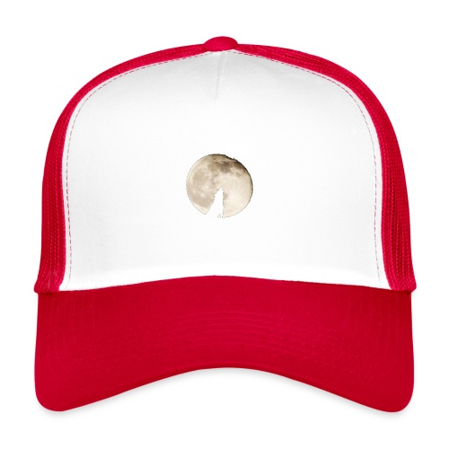 The wolf with the moon - Trucker Cap