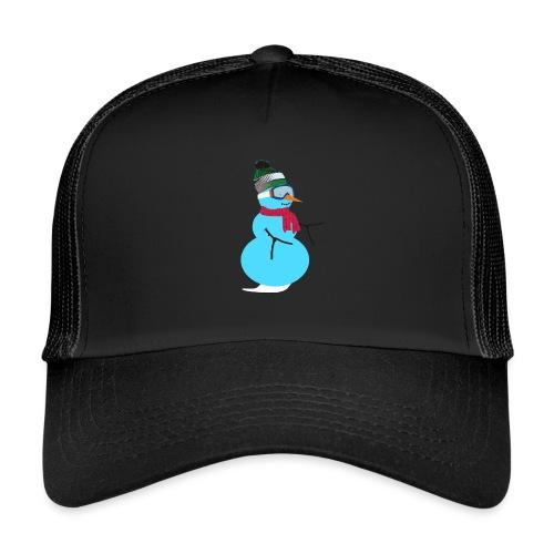 Snowboarding snowman - Trucker Cap