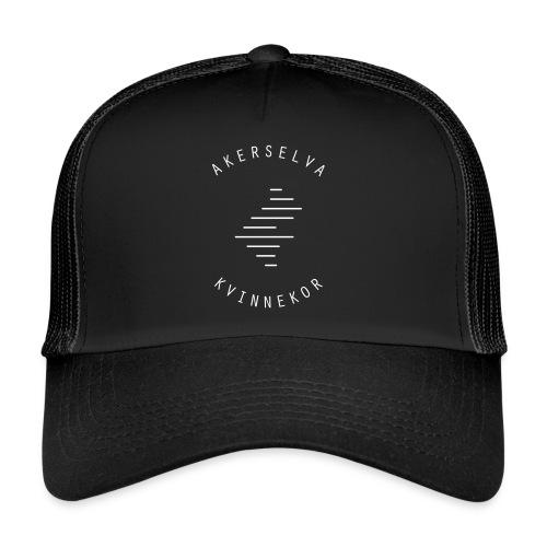 Akerselva kvinnekor hvit logo - Trucker Cap