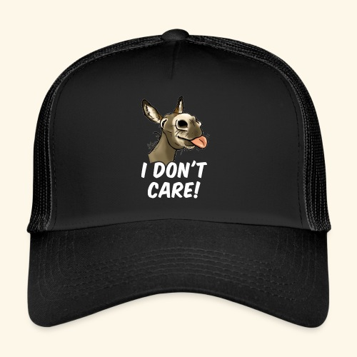 Ane I don't care! (texte blanc) - Trucker Cap