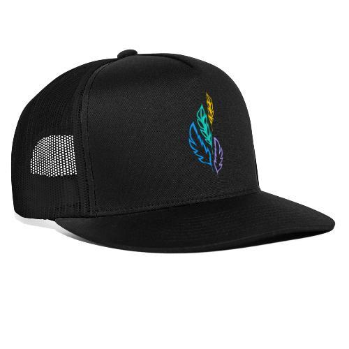 piume astratte multicolore - Trucker Cap