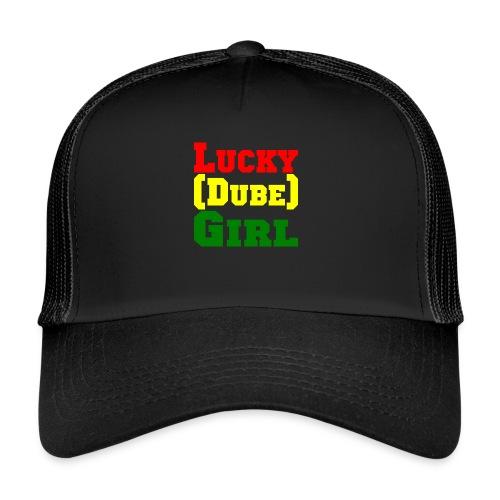 lucky dubes girl png - Trucker Cap