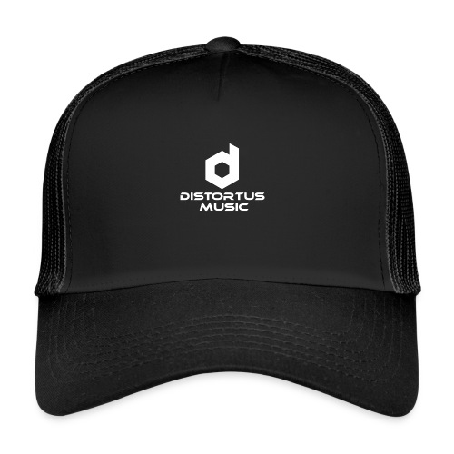 Distortus Logo Black T-shirt - Trucker Cap