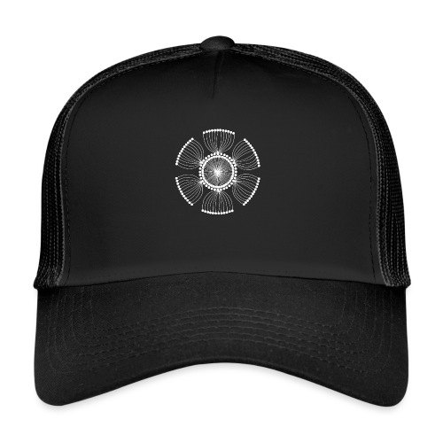 White Poppy Seed Mandala II - Trucker Cap