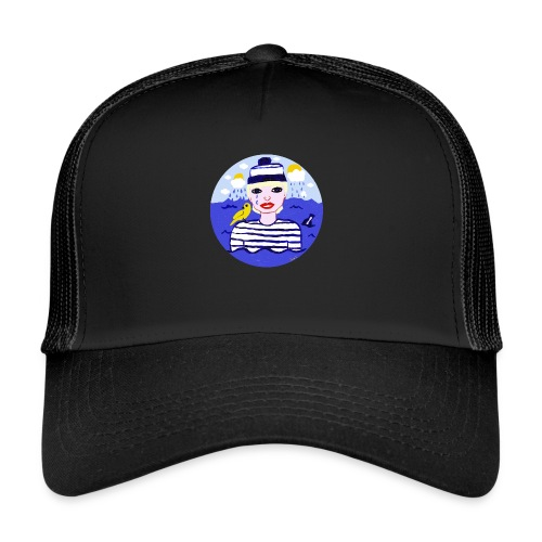 the sailor in love with the sea - Trucker Cap