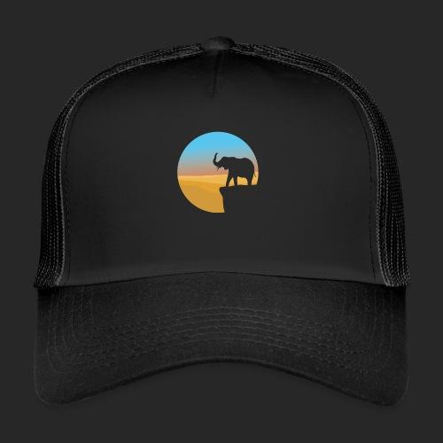 Sunset Elephant - Trucker Cap
