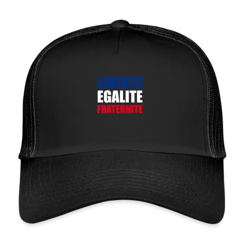 Liberté, Egalité, Fraternité, Bleu, Blanc, Rouge - Trucker Cap