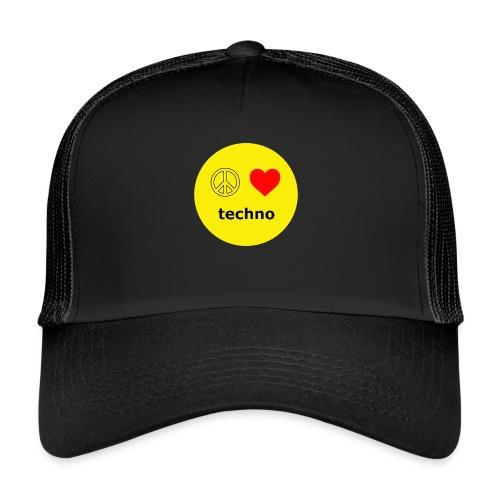 paz amor techno - Gorra de camionero