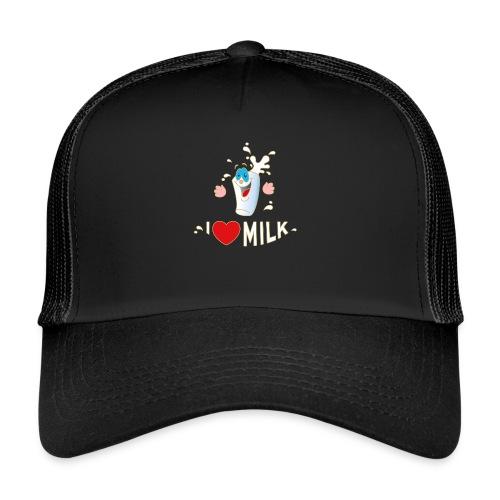 I love Milk Kuh Weide Sahne Schokolade Milchkaffee - Trucker Cap