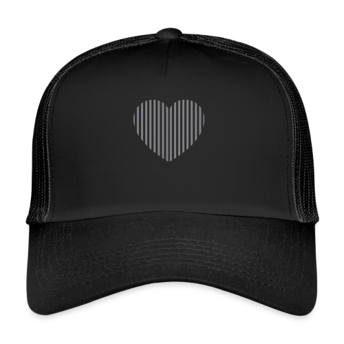 heart_striped.png - Trucker Cap
