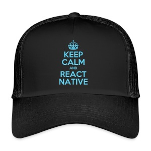 KEEP CALM AND REACT NATIVE SHIRT - Trucker Cap