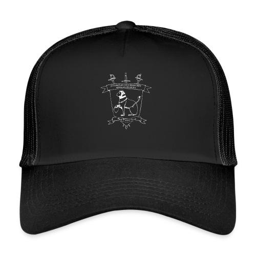 Naisten T-paita, valkoinen logo - Trucker Cap