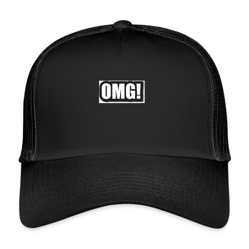 large wordprops omg - Trucker Cap