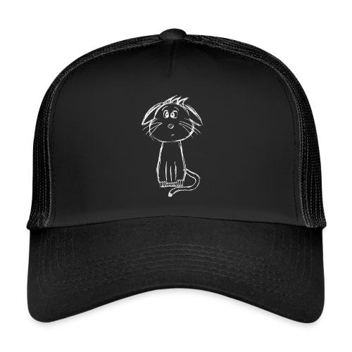 Kissa Kissanpentu valkoinen scribblesirii - Trucker Cap