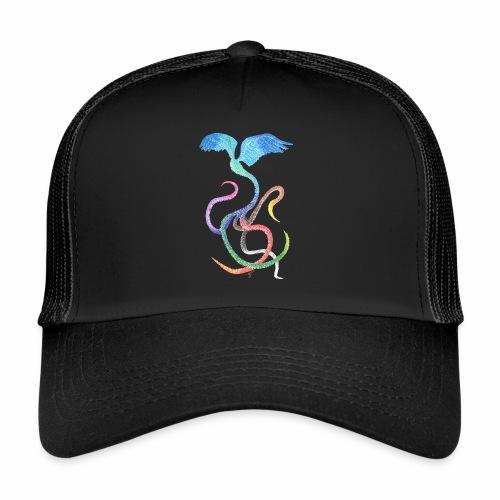 Graceful - Rainbow Bird in Ink - Trucker Cap