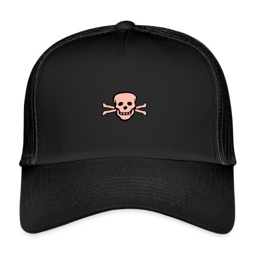 skull tattoo style - Trucker Cap