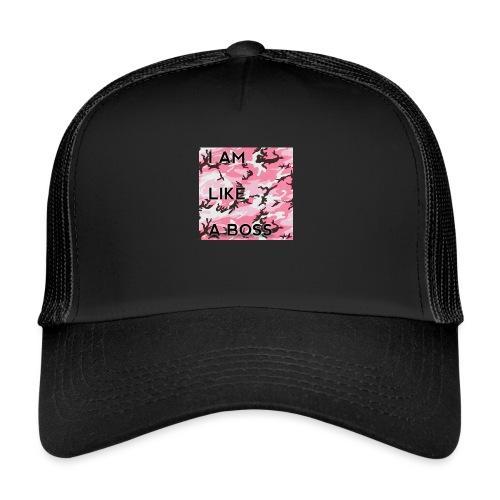 i am loke a boss premium pink camo - Trucker Cap