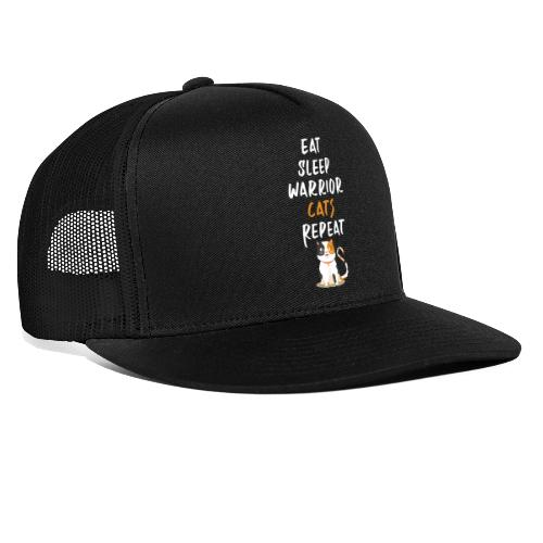 Eat sleep warrior cats repeat - Trucker Cap