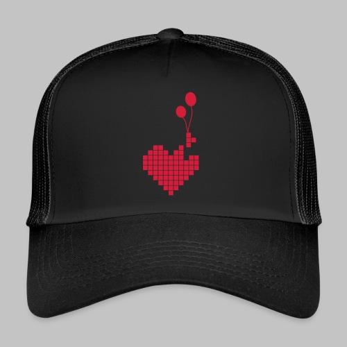 heart and balloons - Trucker Cap