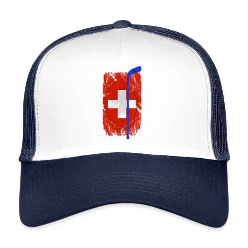 Schweizer Flagge Hockey - Trucker Cap