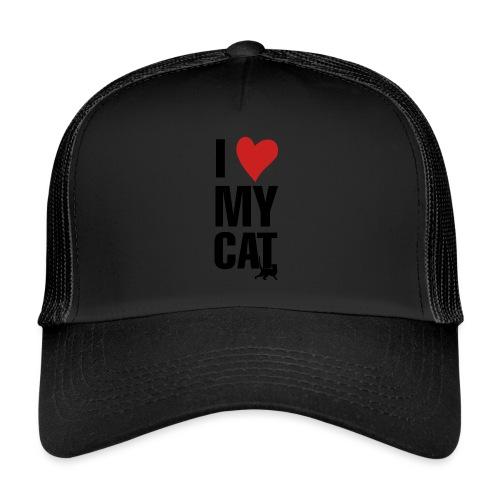 I_LOVE_MY_CAT-png - Gorra de camionero