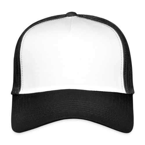 Samurai / White - Abstract Tatoo - Trucker Cap