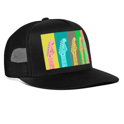 Colorful Guitar Gathering by #OneCreativeArts - Trucker Cap