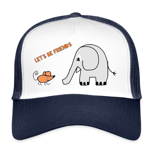 Elephant and mouse, friends - Trucker Cap