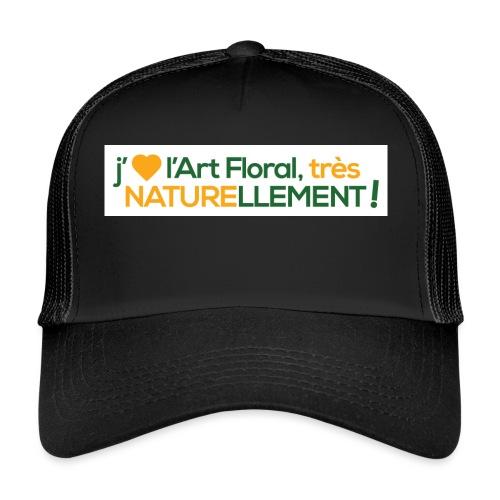 j'aime l'art floral vert jaune - Trucker Cap