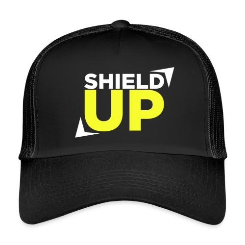 Shield Up yellow png - Trucker Cap
