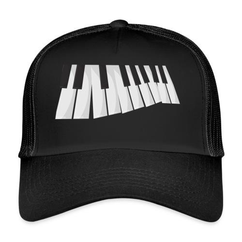 Une certaine perspective du piano en noir et blanc - Trucker Cap