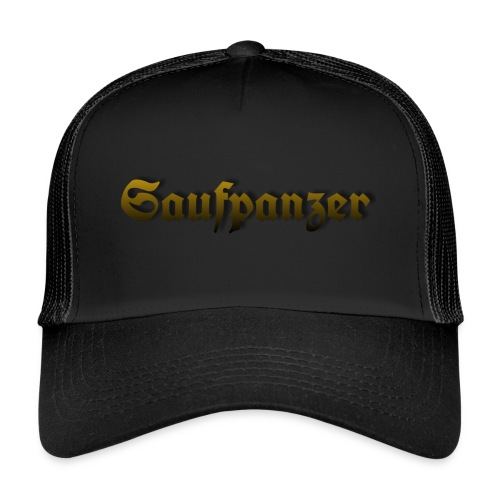 Saufpanzer_Schriftzug_Gold - Trucker Cap