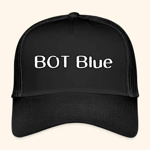 BOT Blue Written Logo - Trucker Cap