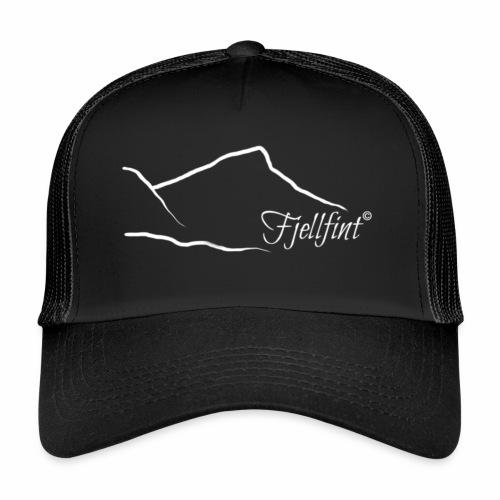 Hvit rektangulær logo - Trucker Cap