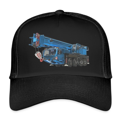 Mobile Crane 4-axle - Blue - Trucker Cap