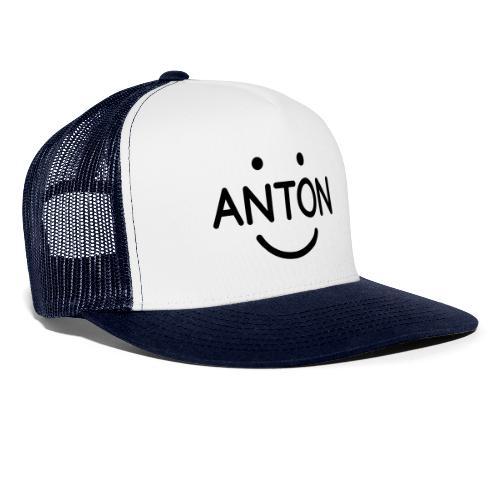 ANTON Smile-Logo schwarz auf weiß - Trucker Cap