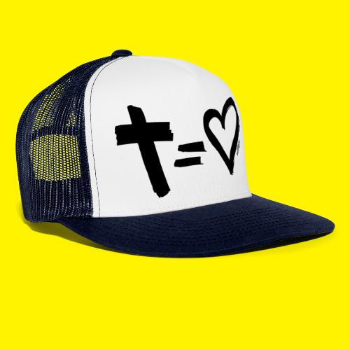 Cross = Heart BLACK - Trucker Cap