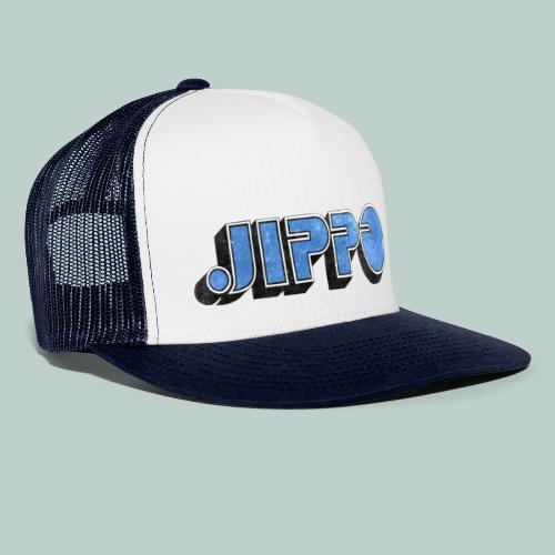 JIPPO LOGO (blue) - Trucker Cap