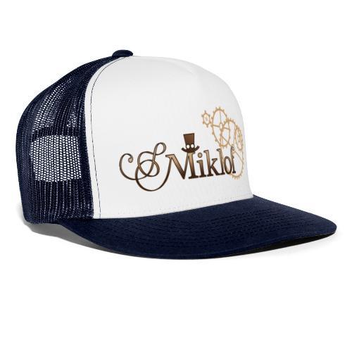 miklof logo gold wood gradient 3000px - Trucker Cap